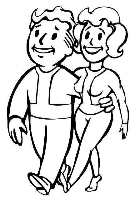 fallout vault boy coloring pages - photo#16