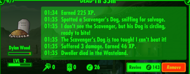 Fallout Shelter Death